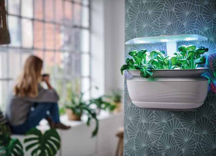 """Nachhaltigkeit beginnt bei Bosch in den eigenen vier Wänden - z.B. mit dem Kräutergarten """"Bosch SmartGrow"""". Das Unternehmen tut aber noch mehr für seine Umweltbilanz. (Foto: Bosch)"""