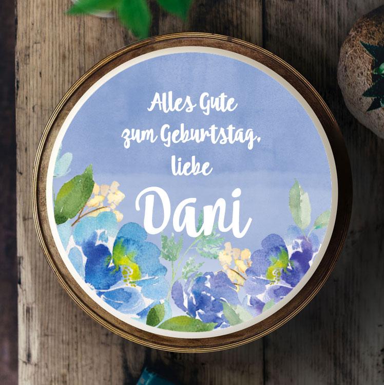 Essbares Tortenbild  049 Aquarell  Blumen  KchenMiezen BackBlog Anleitungen Torten
