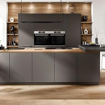 matt schwarze küche nobilia