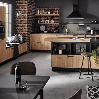 holzfront küche von häcker 2021