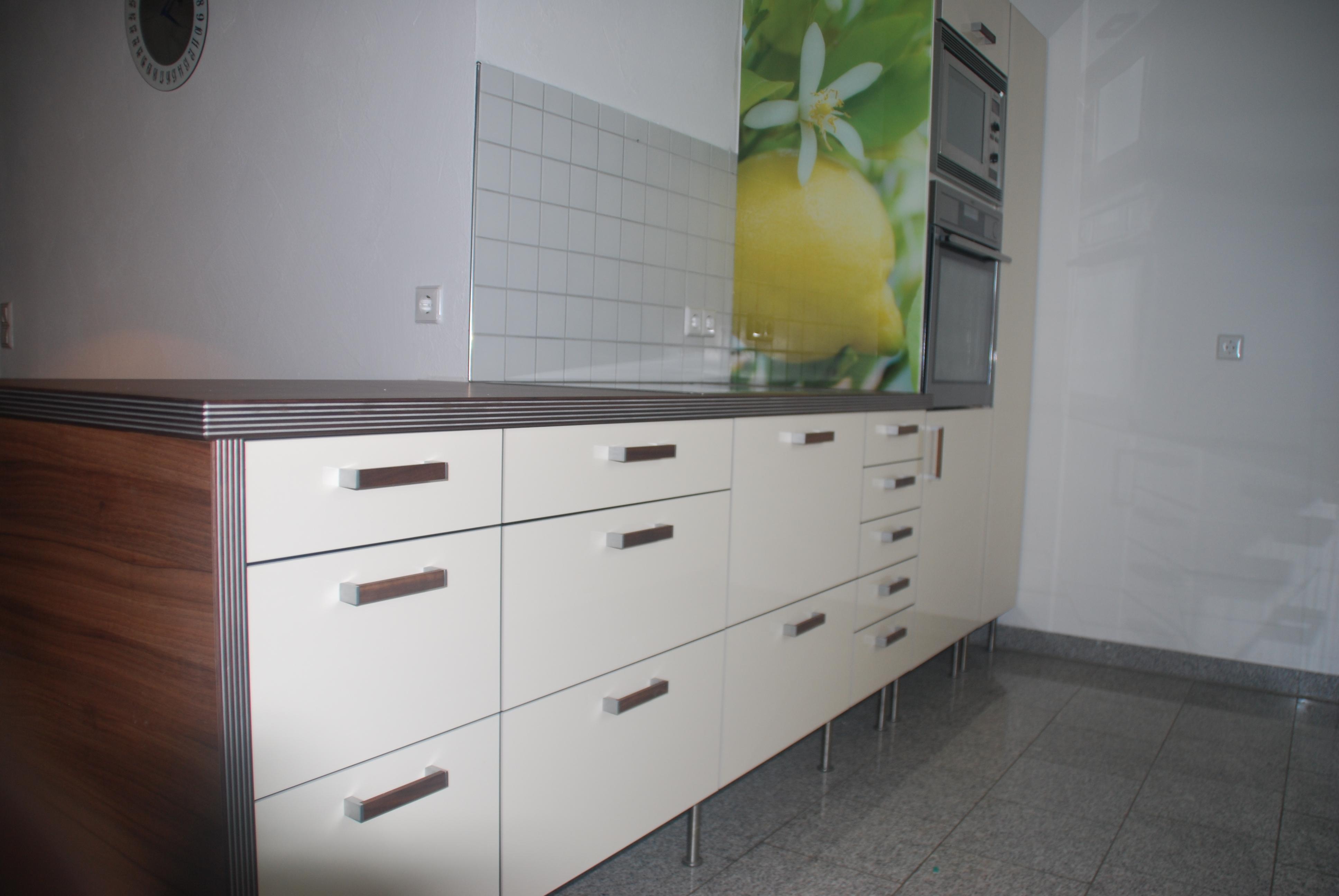 Neue Kchenfronten in Hochglanz auf IKEA Kche  Kchenfront 24