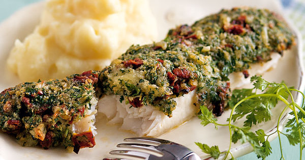 Fischfilet mit TomatenKruterKruste Rezept  Kchengtter