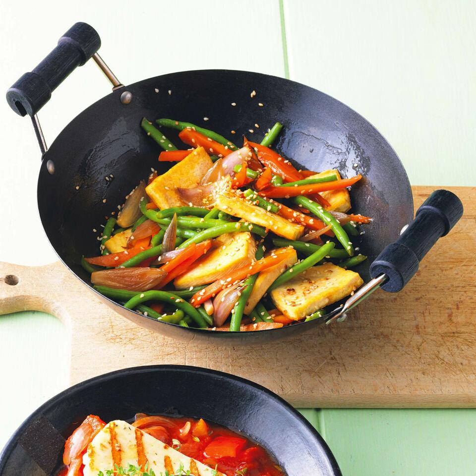BohnenWok mit Tofu Rezept  Kchengtter
