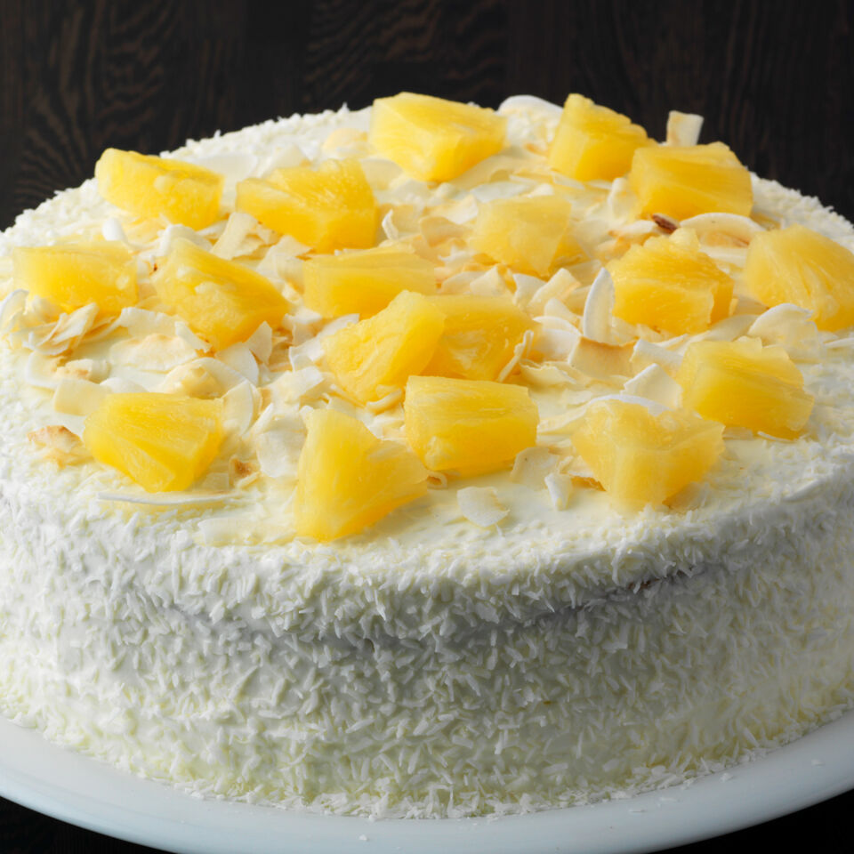 Schnelle AnanasKokosTorte Rezept  Kchengtter