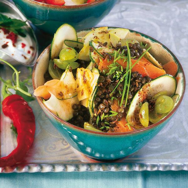 Fruchtiger Linsensalat Rezept  Kchengtter