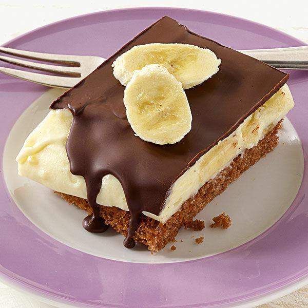 Bananencremeschnitten Rezept  Kchengtter