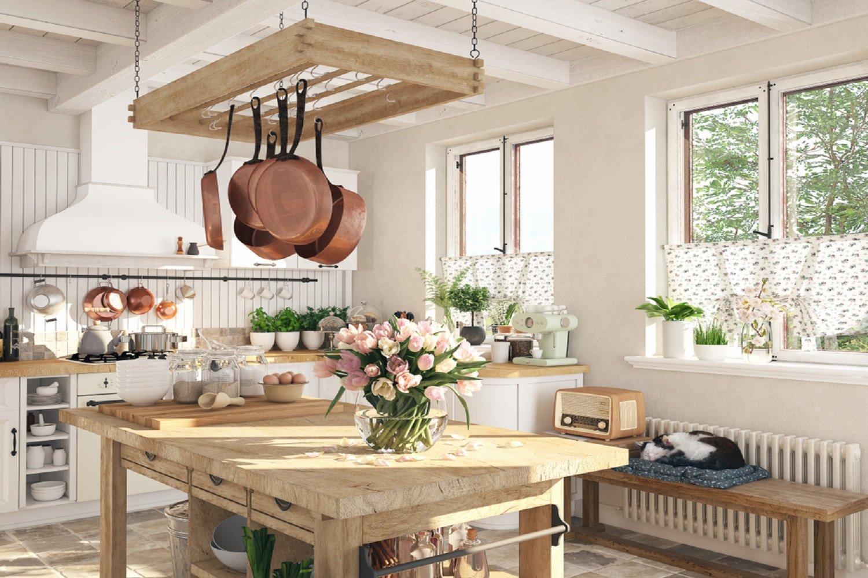 It´s tea time in der englischen küche im landhausstil