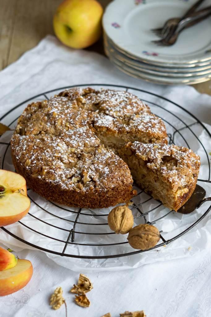 leckerer Dinkel-Apfelkuchen