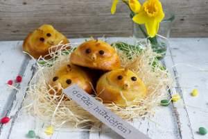 Osterküken aus Quark-Öl-Teig