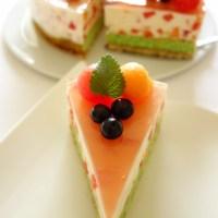 Erfrischende Melonen-Joghurt-Torte
