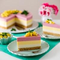 Smoothie-Torte mit Mango-Salsa
