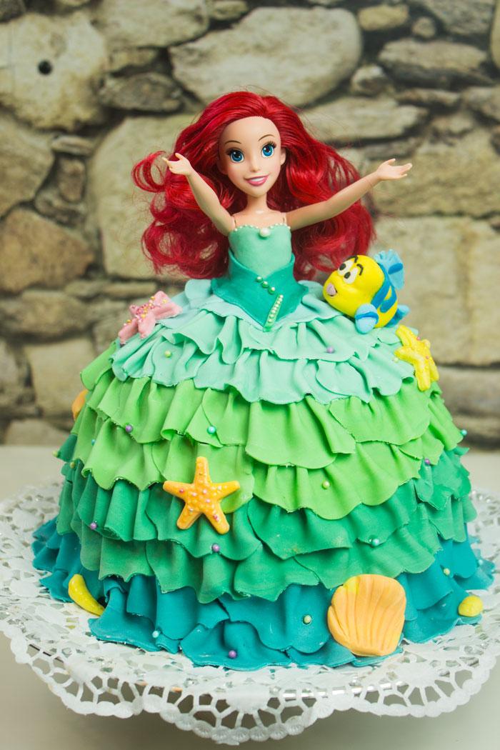 PrinzessinGugelhupf  Arielle Meerjungfrau Kuchen  Conny