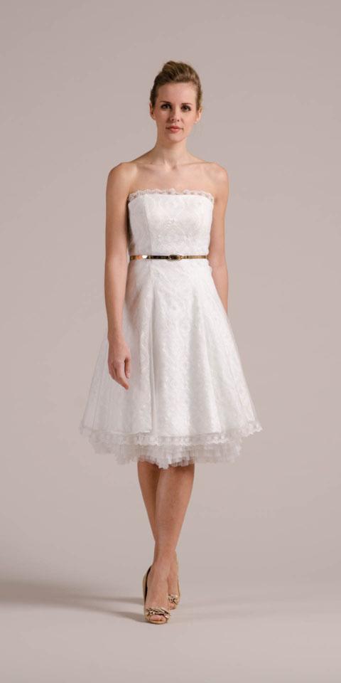 Kurzes Brautkleid 50er Jahre Mit Petticoat Spitze Und Tüll