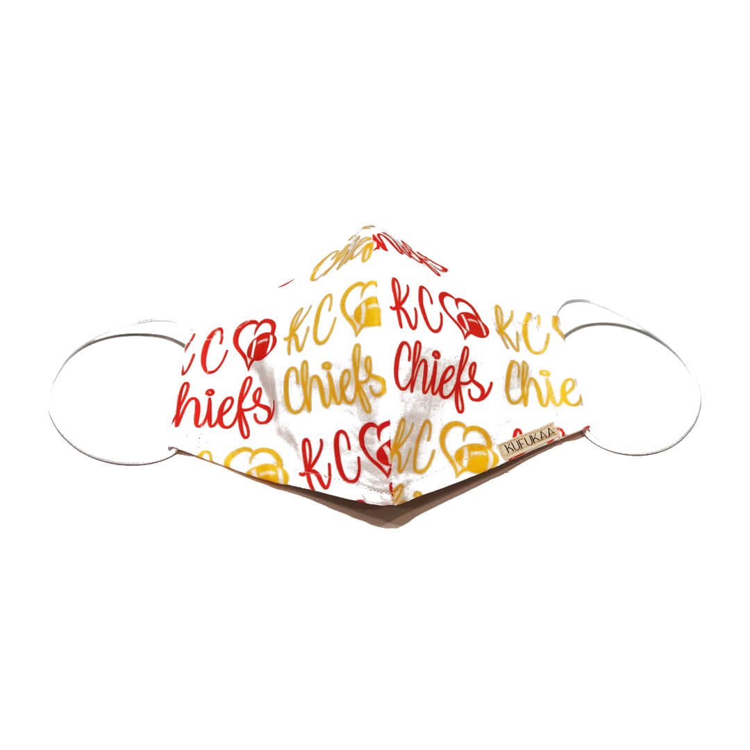 Kufukaa Duotone Kansas City Chiefs Face Mask