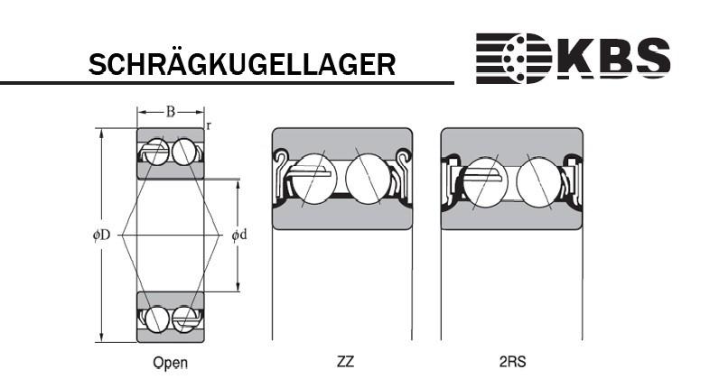 3200-3230: Schrägkugellager 3204 2RS / 3204.2RS
