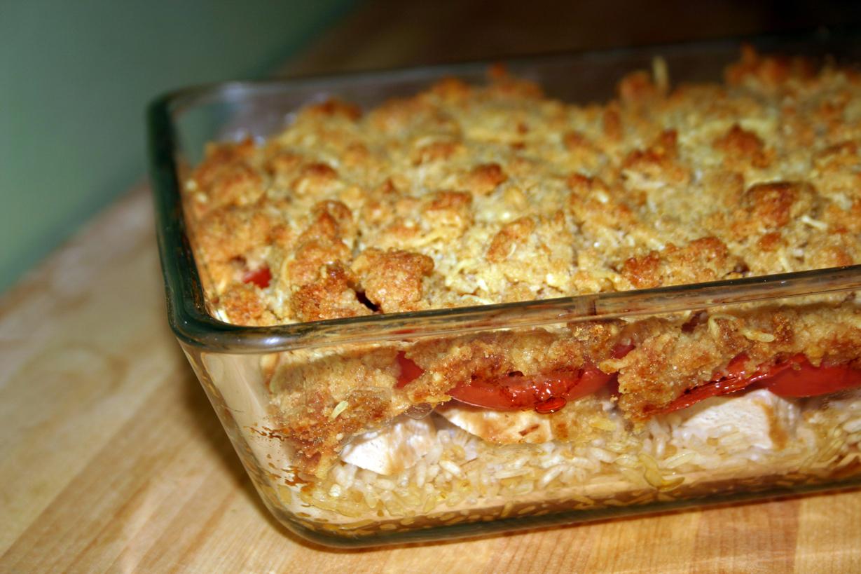 Crumble tofu-tomates