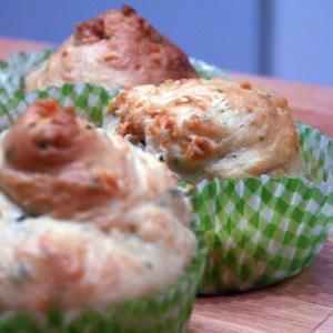 Cupcakes gruyère/ciboulette
