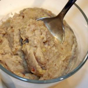 Purée de chataignes à l'huile de truffes blanches