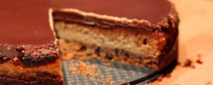 Cheesecake beurre de cacahuètes et chocolat au lait
