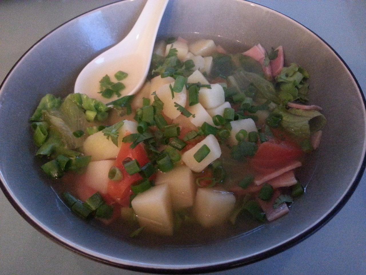 Bouillon de pomme de terre