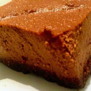 Cheesecake Choco-Praliné sans lactose ni gluten