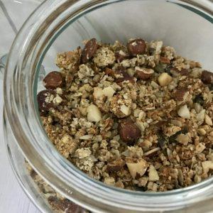 Granola sans gluten, ni sucre ajouté aux noix variées