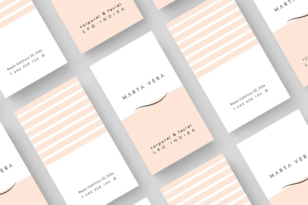 KUINI Estudio de diseño gráfico Alicante ha sido el encargado de crear la identidad corporativa y administrar el Social Media de Marta Vera Técnico Corporal