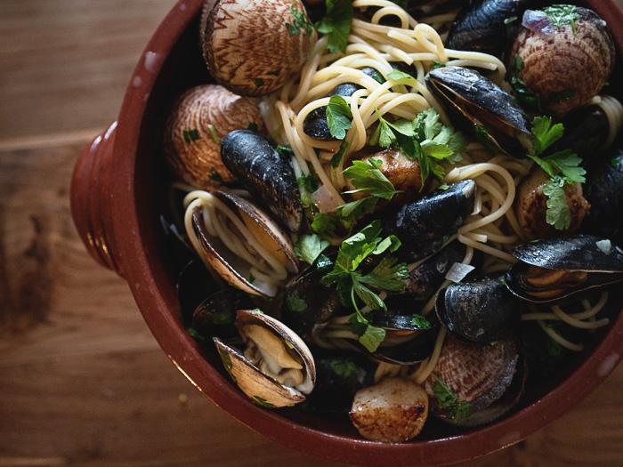 Simpukkapasta | sinisimpukka | simpukat | pasta | resepti | ruokablogi
