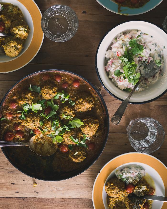 Linssi kofta | kasvisruoka | curry | intialainen