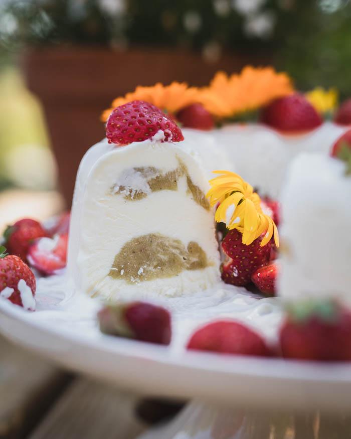 Raparperi-jogurttijäädyke | jälkiruoka | raparperi