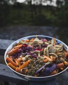 Marokkolainen porkkana -linssisalaatti