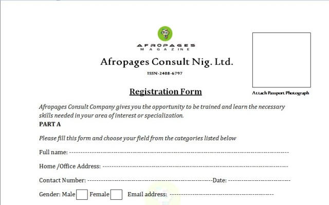 Afropages skill acquisition program