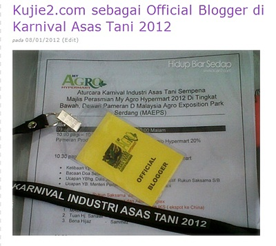 official blogger