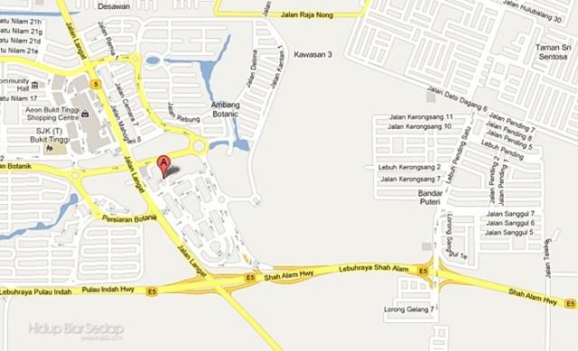 lokasi ke GM Klang