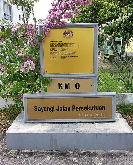 papan tanda jarak