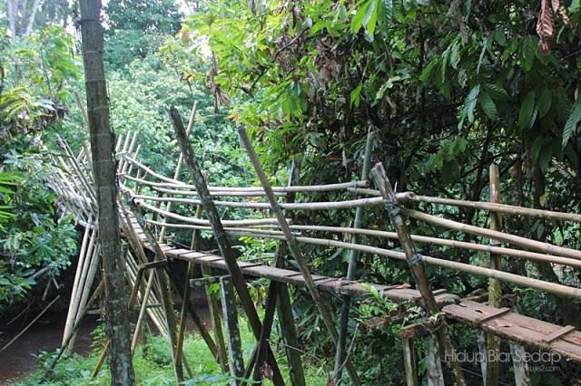 jambatan buluh seberang sungai