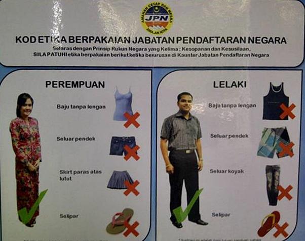 kod pakaian jabatan pendaftaran negara