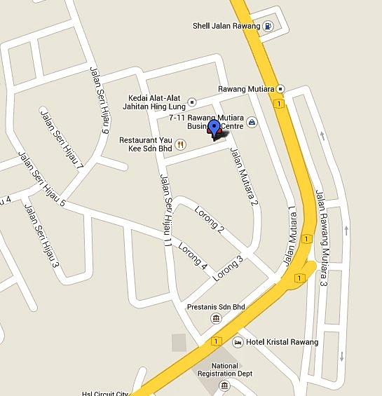 lokasi klinik haiwan rawang