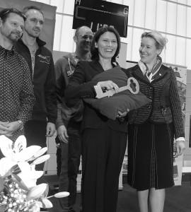 Hausmeister, Direktorin und ihre Stadträtin.Foto: ro
