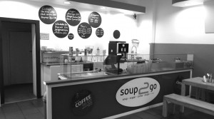 Soup2go heiß und schnell.Foto: cr