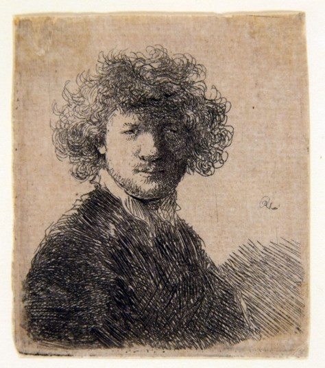 J.Mulders_Self-portrait with curly hair and white collar, bust