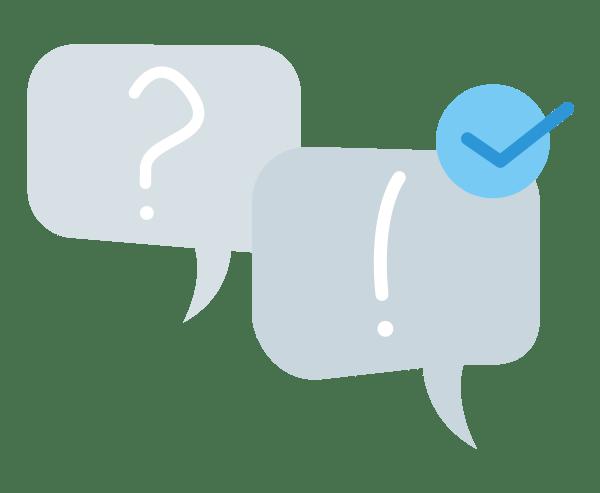Illustration Arbeitsablauf Fragenkatalog Fragen Antworten