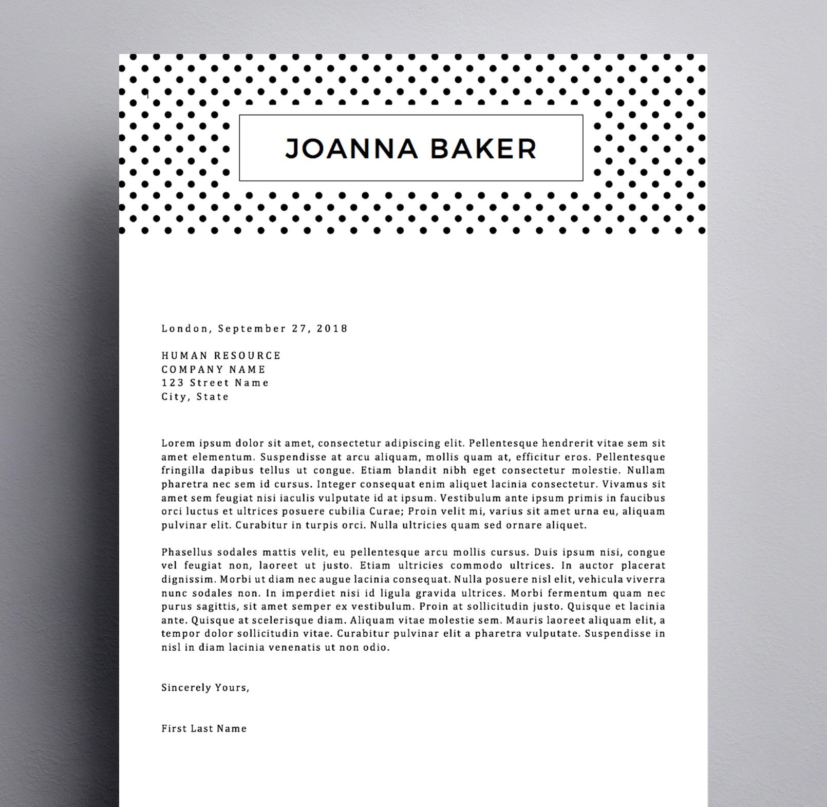 Joanna Baker Cover Letter Kukook