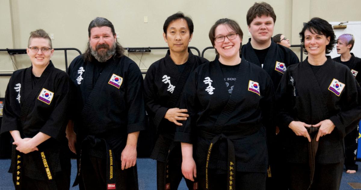 Kuk Sool Won of Muncie team at a Kuk Sool Won workshop in Dayton, Ohio.