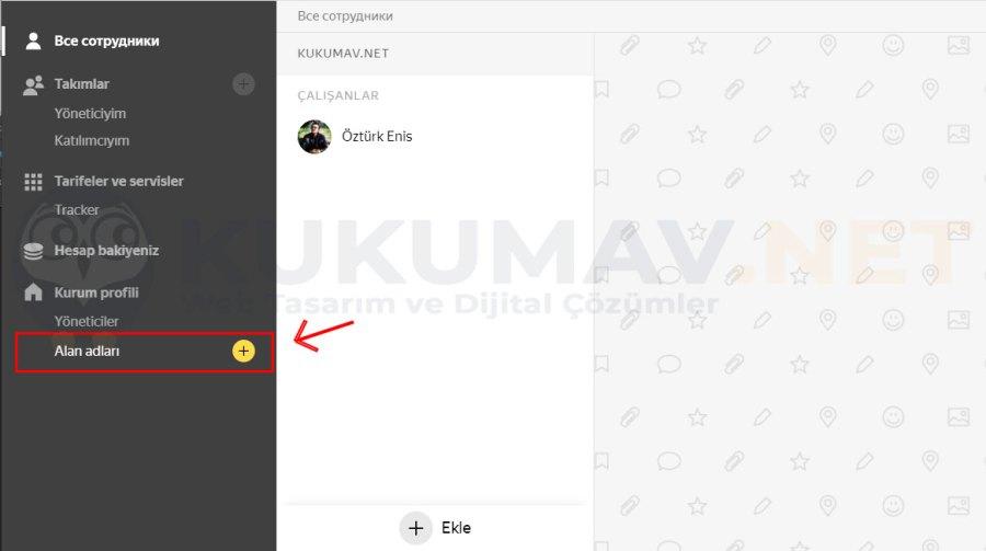 Yandex Kurumsal Mail Site Ekleme