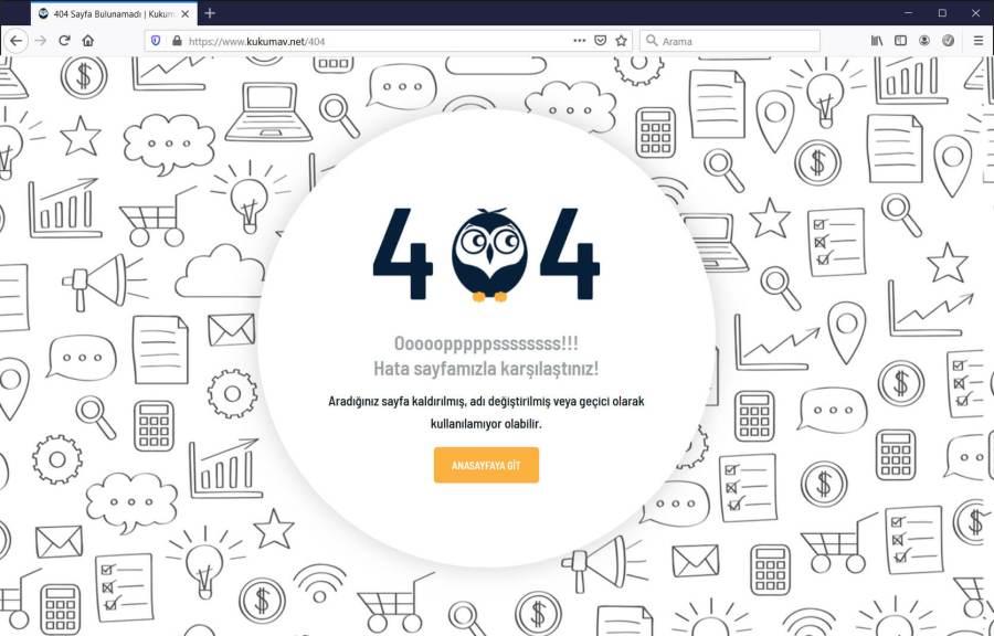 404 Hata Sayfası Oluşturma