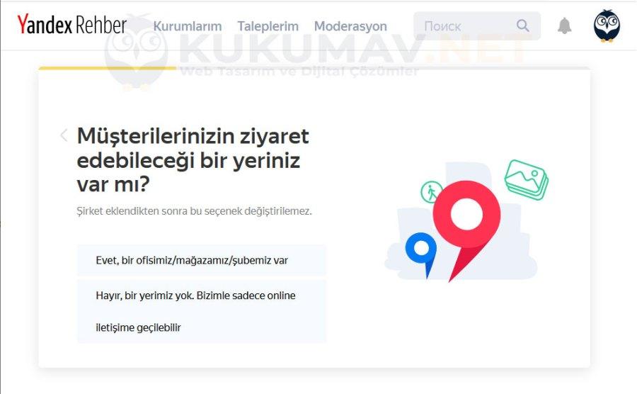 Yandex Haritalara Firma Ekleme