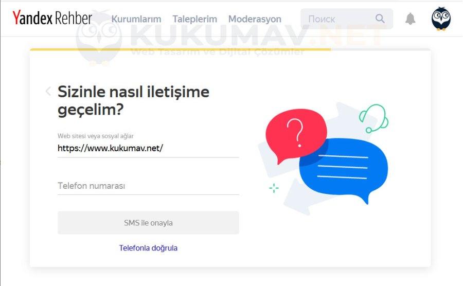 Yandex Rehber Firma Kaydı