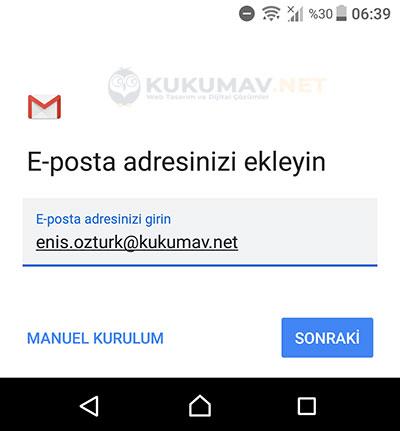 Andorid IMAP Mail Kurma
