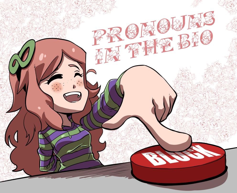 Triggerhappy: pronouns in the bio 2